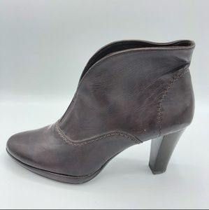 Victoria Spencer Brown Stacked Heel Ankle Booties